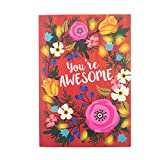 Awesome Flowers Greeting Card