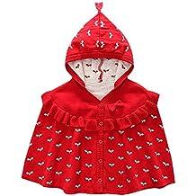 Kookoohouse Poncho Chaqueta con Capucha Abrigo Adorable con Lazo de Bebé Niña Cálido Suave Cómodo para Recíen Nacidos