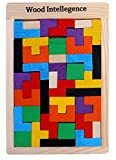 #7: Trinkets & More™ - Tetris Wooden Jigsaw Puzzle (40 Pieces) | Wood Intelligence Game | Tangram Brain Teaser | STEM Toys Kids 2+ Years