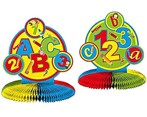 Folat 61340 Honigwaben Tischdeko, Schulanfang 34cm hoch x Ø 27cm