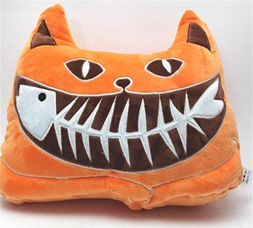 J & L 3d simulazioni gatto Cat cuscino decorativo Luminous peluche auto cuscino divano decorativa forma della testa cuscino auto divano sedia cuscino schienale