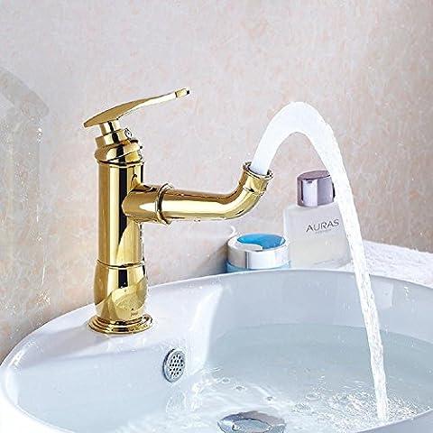modylee Oro Rame Sotto Il rubinetto lavabo bagno caldo e freddo lavare il lavabo sul Spray rubinetto
