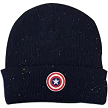 Marvel Gorro con Logo de Escudo de Capitán América 3eb83bffabc