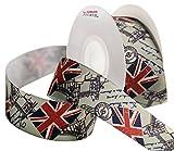 Laribbons 25mm de large ruban de papier cadeau, The Great British drapeaux ruban Imprimé–9metre/Bobine