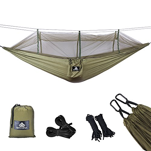 NatureFun Mosquitero Hamaca Ultra Ligera para Viaje y Camping | 300kg de...