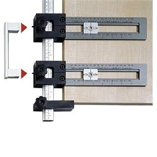 Hettich 44763 Accura Bohrlehre Set für Griffe und Knöpfe (ohne Holzbrett), verschiedenen Verpackung