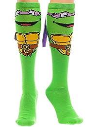 Teenage Mutant Ninja Turtles Mike with Mask Knee High Socks