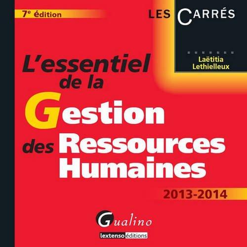 L'essentiel de la gestion des ressources humaines 2013-2014