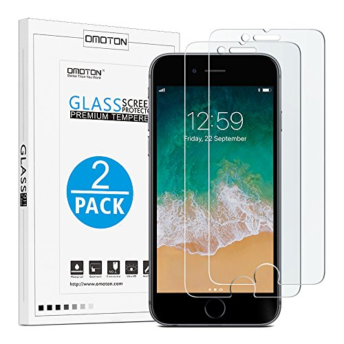 OMOTON [2 Unidades] iPhone 8 Plus/iPhone 7 Plus Protector de Pantalla,Bordes 2.5D,Dureza 9H,Anti-Huellas,Anti-Burbujas [ 5.5 Pulgadas ]
