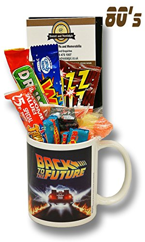Back to the Future Mug with 80's Retro Sweets
