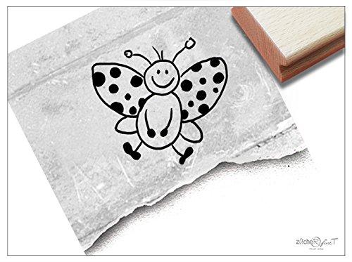 Stempel - Kinderstempel MARIENKÄFER Mariechen - Motivstempel für Kita, Kinderzimmer und Schule - Bildstempel, zum Malen und Basteln, für groß und klein - passt auch zur Einschulung in jede Schultüte - von zAcheR-fineT