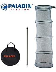 Paladin Setzkescher 200cm + Erdspiess, Kescher zum Fische hältern, Fischkescher, Angelkescher, Fischnetz
