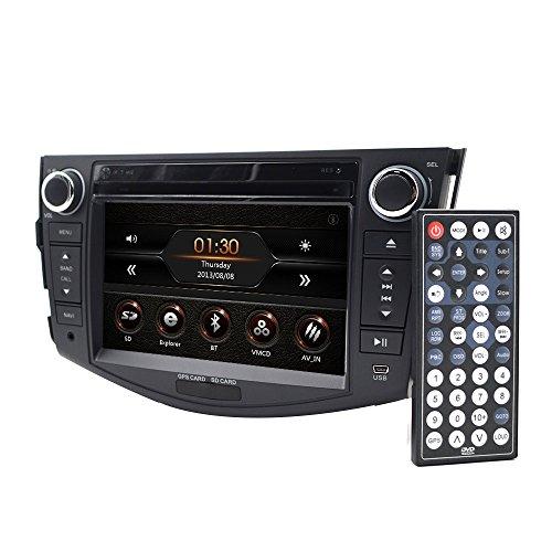 Auto in Dash Radio für Toyota RAV4200620072008200920102011201217,8cm Monitor DVD Player GPS Navigation Stereo Bluetooth SWC Subwoofer Rückseite cam-in