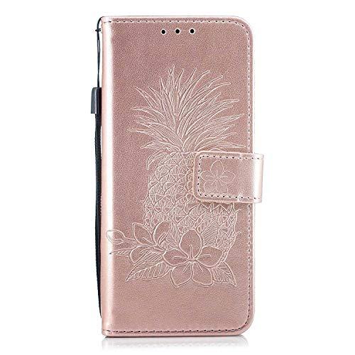 DENDICO Custodia Huawei P20 Lite Portafoglio Cover in Pelle per Huawei P20 Lite Portafoglio Caso con Chiusura Magnetica, Carta Slot