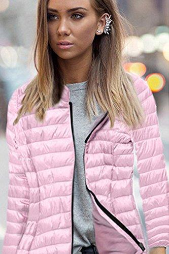 - Des Manches Longues À L'hiver Polaire Occasionnels À Court Outcoat Blazer Veste Parka pink