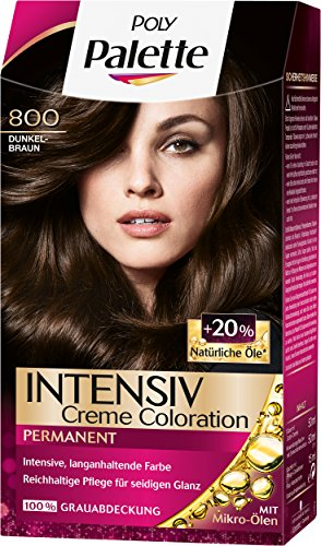Palette Intensiv Creme Coloration 800 Dunkelbraun Stufe 3, 3er Pack (3 x 115 ml)