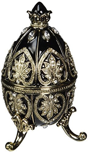 Design Toscano Alexander Palace Faberge-Style Nevsky Enameled Egg in Rich Ebony by Design Toscano - Alexander Palace