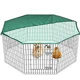 Edenstar - Grande box gabbia pieghevole per animali domestici, recinzione da giardino per interni/esterni 2teli di copertura gratis