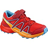 Salomon Unisex Kids' Speedcross Bungee K Trail Running Shoes, Red, 32 EU