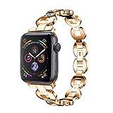 Altsommer Armband für Apple Watch Series 4 44MM Luxus Edelstahl mit StrasssteinenEdelstahl Armbände,Edelstahl Replacement Wrist Strap Band Zubehör für Damen Herren 135-215mm (C)