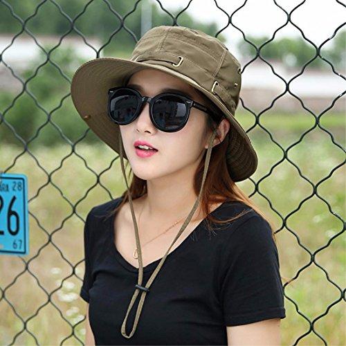 QIER-MZ Der Frauen-Hut-Sommer Zusammenklappbarer Sun Sun Hut Im Freien Fisher-Hut Wandernder Hut Strand-Hut Fahrrad-Hut ()