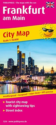 Frankfurt am Main: Tourist City Map with sightseeing tips and Street index. 1:16000 (Stadtplan / SP)