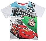 Disney Cars 2 T-Shirt 2017 Kollektion 92 98 104 110 116 122 128 Shirt Kurz Jungen Sommer Neu Lightning McQueen Weiß (92 - 98)