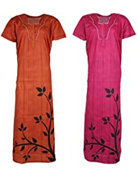 Barbie Women's Nightdress (Multi-Coloured, Set of 2, XXL)