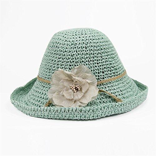 Femme Chapeau de paille Chapeau de soleil pliable Chapeau de soleil Anti-UV Été ( couleur : N ° 6 ) N ° 6