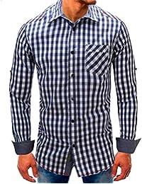 Camisa De Manga Larga De Hombre De Mezclilla Camisas Hombre Hipster ❤️AIMEE7  Camisas Hombre Manga 960042ddc82