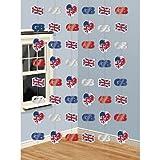 Deckenhänger, Großbritannien, verschiedene Motive, 210 cm, 6er-Pack