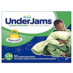 Pampers Underjams Bedtime Underwear Boys, Small/Medium Diapers, 50 Count