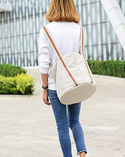 Damen Umhängetasche Schultertaschen Elegant Shopper Handtaschen Canvas Grau Beige