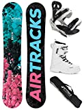 AIRTRACKS DAMEN SNOWBOARD SET - BOARD POLYGONAL 138 - SOFTBINDUNG