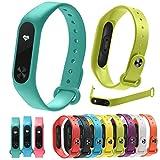 Uhrenband Für Xiaomi Mi-Band-2 MuSheng 10PC Ersatzkieselsäure Gel Armband Band Strap