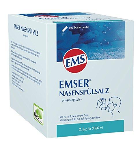 Emser Nasenspülsalz physiologisch – Nasendusche bei Erkältung, Allergie und zur Nasenpflege – 100 x 2,5 g Beutel