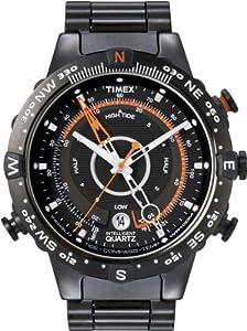 Reloj Timex T2N723D7 de cuarzo para hombre con correa de acero inoxidable, color negro de Timex Intelligent Quartz