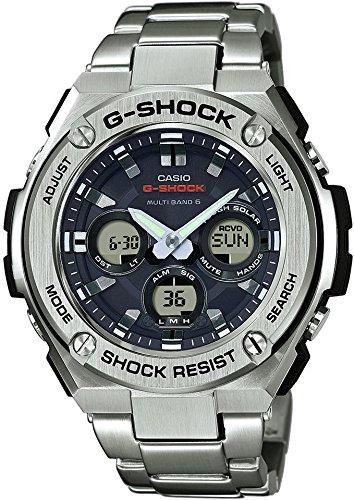 CASIO Herren Digital Uhr mit Edelstahl Armband GST-W310D-1AER (Uhren Edelstahl Aus G-shock)