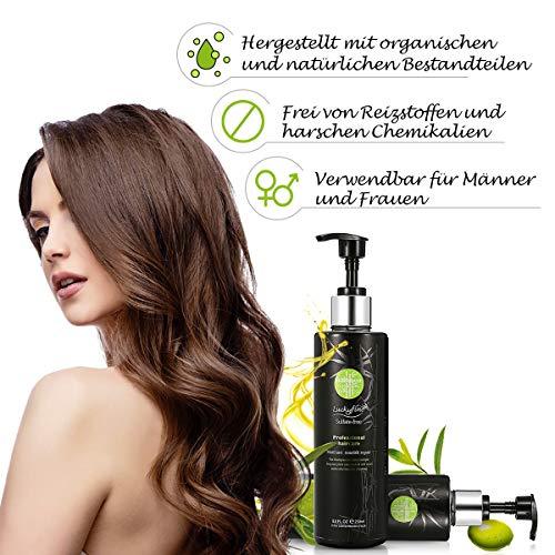 Pflege-schuppen-shampoo (Haarshampoo, Luckyfine Bamboo Charcoal Repair & Pflege Shampoo Pflegt Kopfhaut und Haare, entfernt Schuppen, Feuchtigkeitsspendendes, volumisierendes Shampoo für alle Haartypen 250ml)