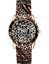 GUESS Women's Quartz Watch with Multicolour Dial Analogue Display and Multicolour Stainless Steel Bracelet W0425L3