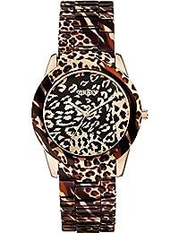Guess Damen-Armbanduhr Analog Quarz Edelstahl beschichtet W0425L3