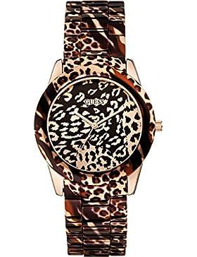 GUESS Damen-Armbanduhr Vixen Analog Quarz Edelstahl W0425L3