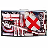 Jumbo England Supporters Party Pack Including Flags, Bunting, Hats & Hooters for Pubs, Offices & Houses (50 Items)