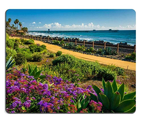 Preisvergleich Produktbild Mousepads Colorful Flowers and View of The Fishing Pier at Linda Lane Park in San Clemente California Image ID 37030137 250mm*300mm