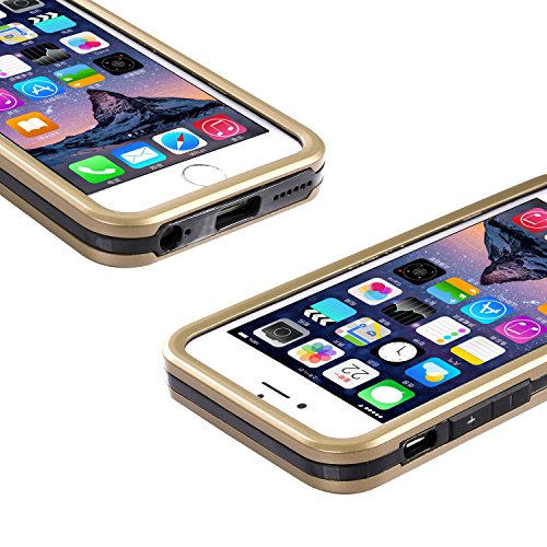 iPhone 6S/6étui, wisdompro® 3pièces [Ultra] hybride de protection robuste anti-chocs avec béquille intégrée (Coque souple en TPU et insert double rigide externe Armor) pour 11,9cm pour Apple iPhone Doré