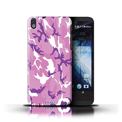 Kobalt® Imprimé Etui / Coque pour HTC Desire 816 / Rose 1 conception / Série Armée/Camouflage Rose 4