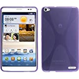 Funda de silicona para Huawei MediaPad X1 - X-Style púrpura - Cover PhoneNatic Cubierta + protector de pantalla
