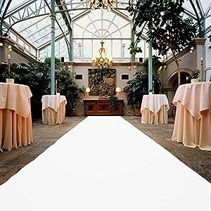 VIP Event-Teppich-Läufer, Hochzeitsläufer PODIUM - Weiß mit Schutzfolie, 2,00m x 10,00m, Hochzeitsteppich, Empfangsteppich, Eventteppich, Teppichboden für Messe & Event