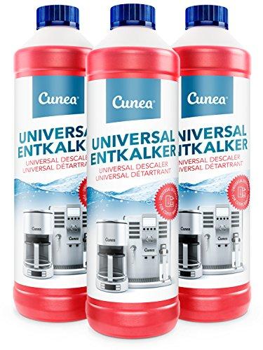 Cunea I Decalcificante Anticalcare 3x 750ml I Liquido decalcificatore I Per Macchine Da Caffe