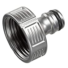 "GARDENA Premium Tap Connector, 33.3 mm (G 1""): Adapter for taps, frost-resistant, packaged (18242-20)"